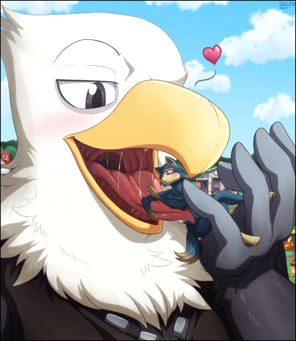 G4 Commission Eagle Crossing By Youkaichan