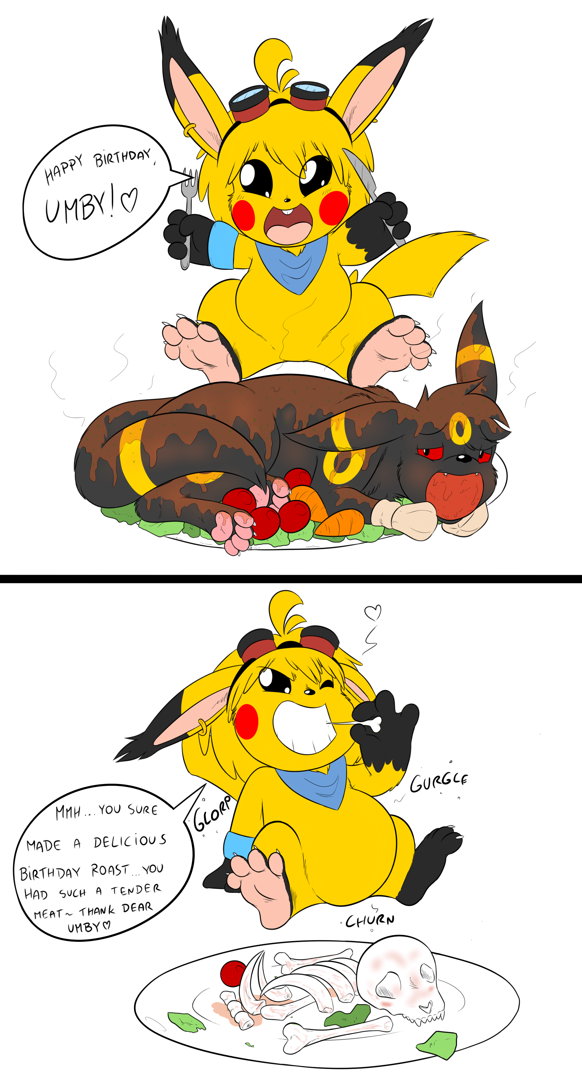 G4 Birthday Umbreon Roast Implied Hard Vore By Sparky